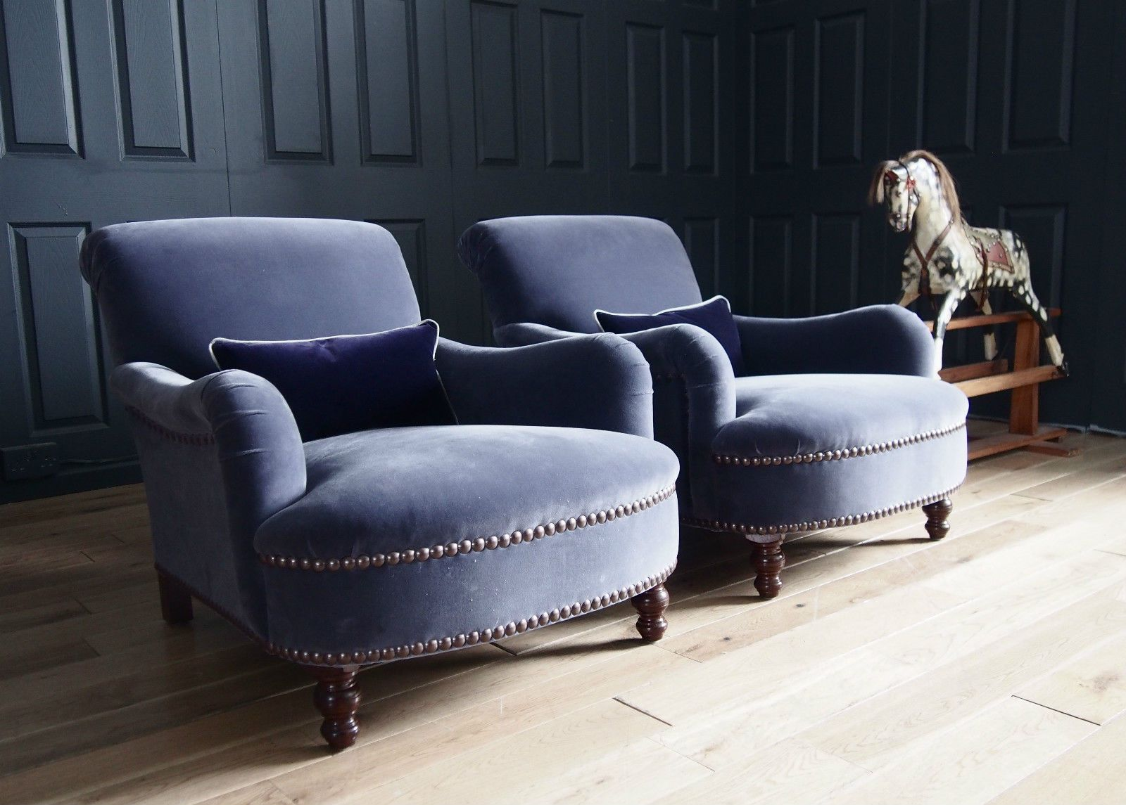 Interio Sofa George Pair Of George Smith Jules Armchairs In Designers Guild