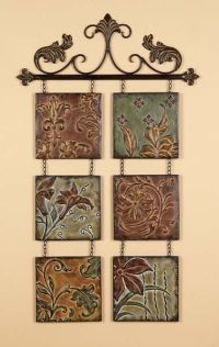 Tuscan Fleur De Lis Hanging Metal Wall Art Wall Decor ...