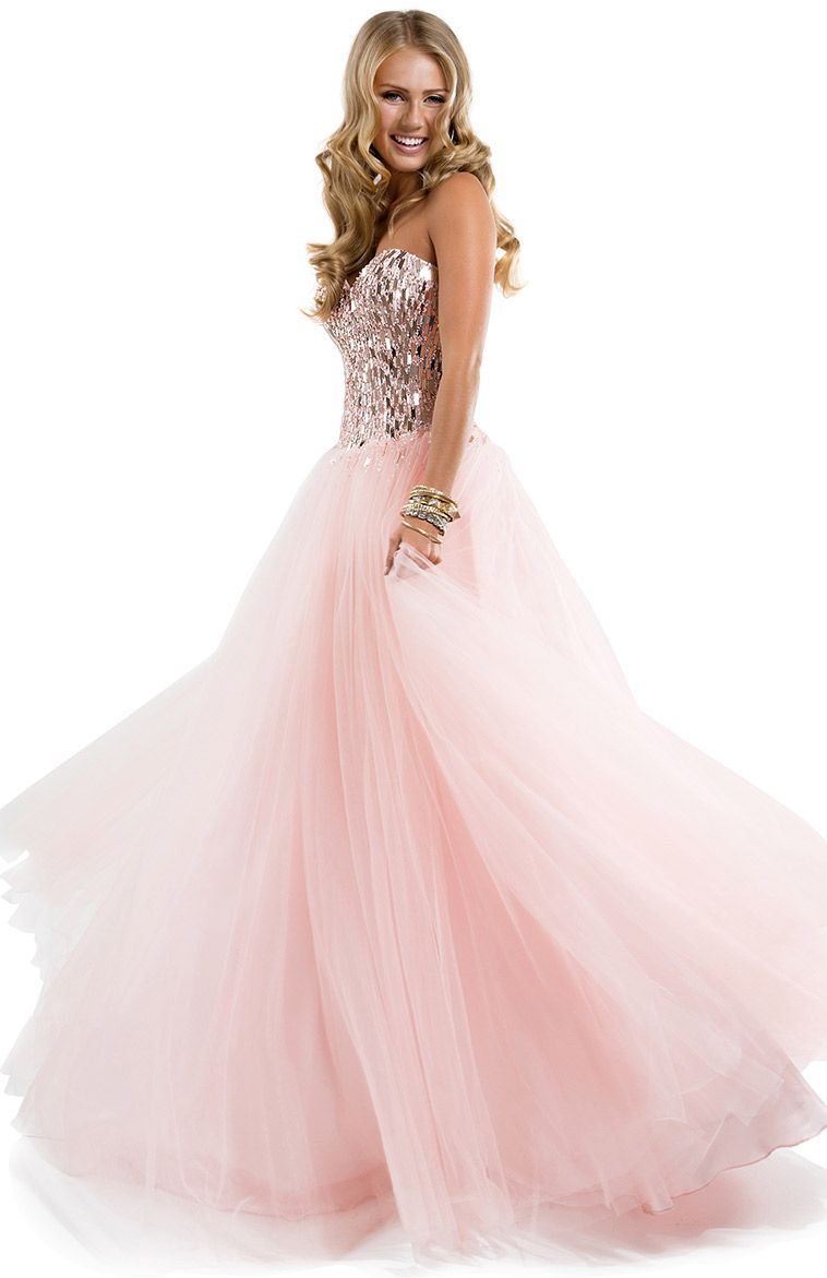Flirt prom 2014 dress style sparkle tulle ball gown with paillette bodice