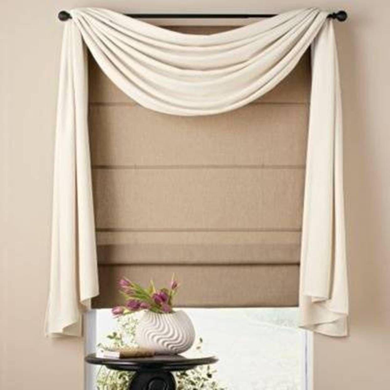 Home Design and Decor , Pretty Window Scarf Ideas : White