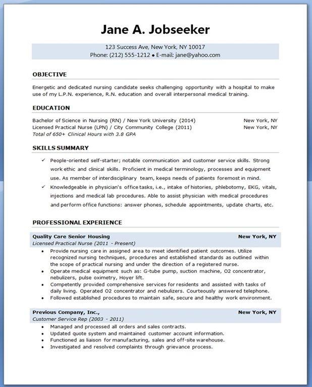 sample resume for nursing student Creative Resume Design - sample resume for nursing student