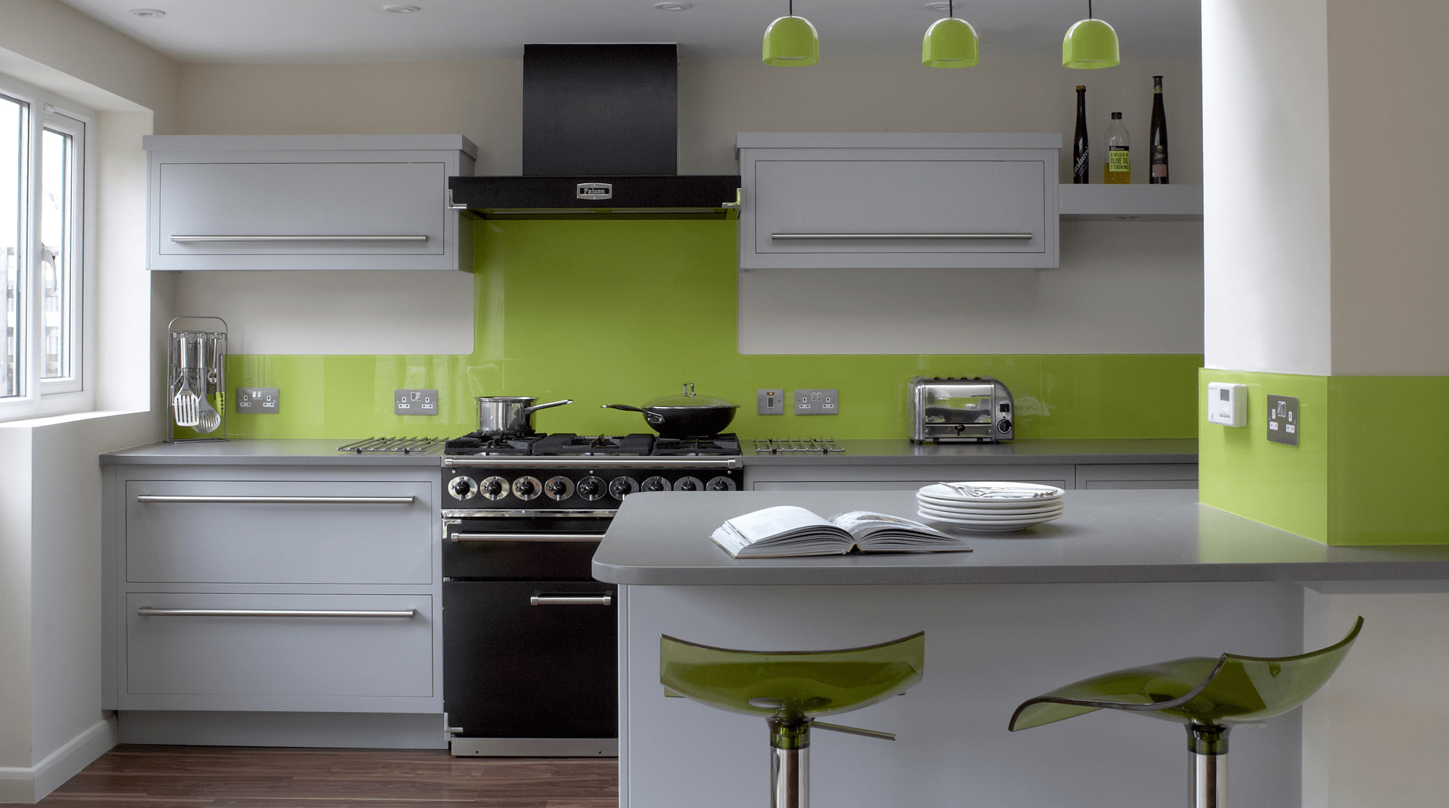 green kitchen countertops Modern Kitchen In Green Color Inspirations Amusing White Lime Green Kitchen Decor with Kitchen Island