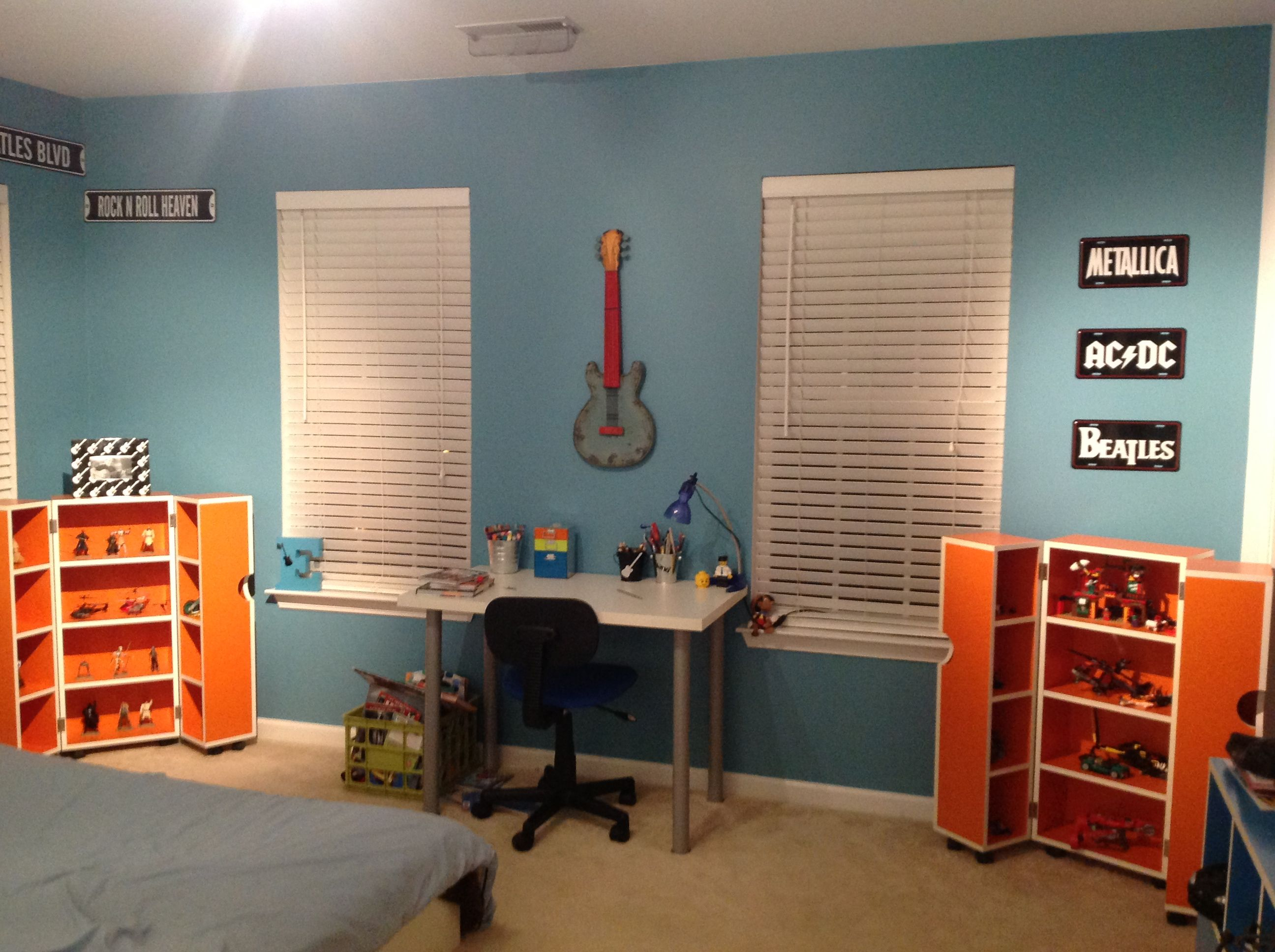 Guitar Decor For Bedroom Kid Bedroom Teenager Bedroom Music Theme Rock Star Guitar