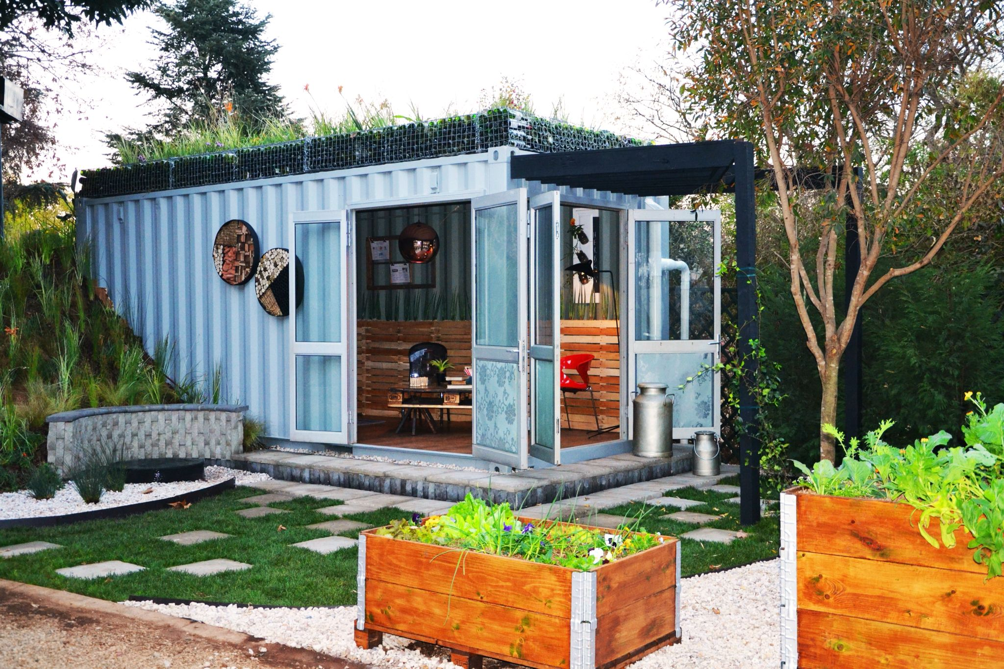 See Container Haus Shipping Container Converted Into An Outdoor Living Space
