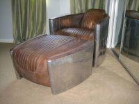 RESTORATION HARDWARE Aviator Chairs & Ottoman in Antique ...
