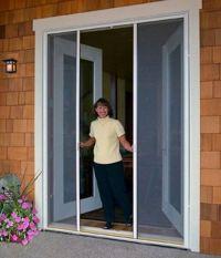 Retractable screen doors for french patio doors