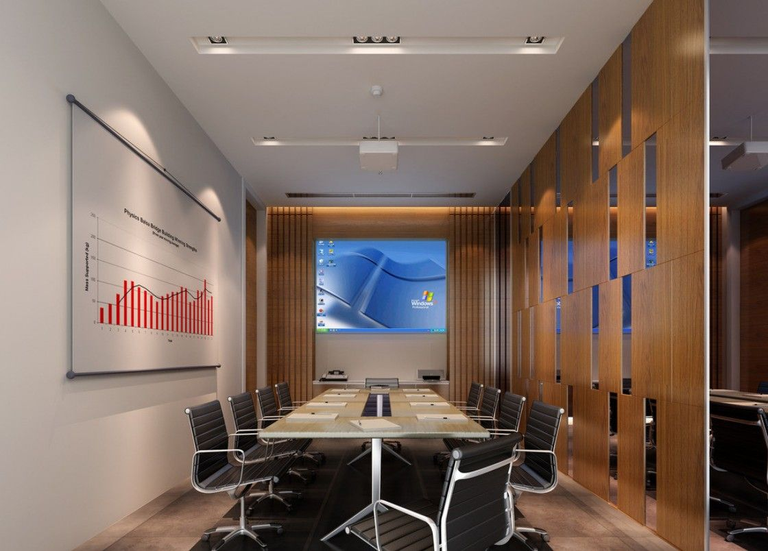 Conference Room Decorating Modern Minimalist Digital Meeting Room Interior Design