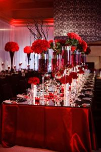 Red White And Black Wedding Table Decorating Ideas ...