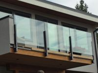 glass railings exterior | topless glass railings on deck ...