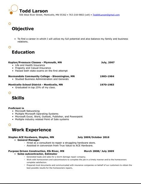 Catchy Resume Objective Examples resume template Pinterest - resume objective ideas