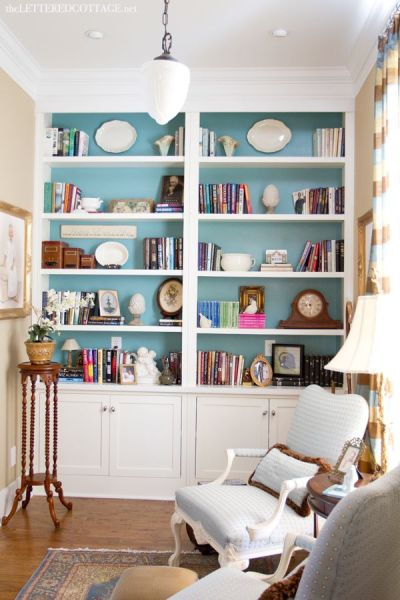 Cottage Library | Study | The Lettered Cottage | Bookcases | Bookshelves | Bookcases | Pinterest ...