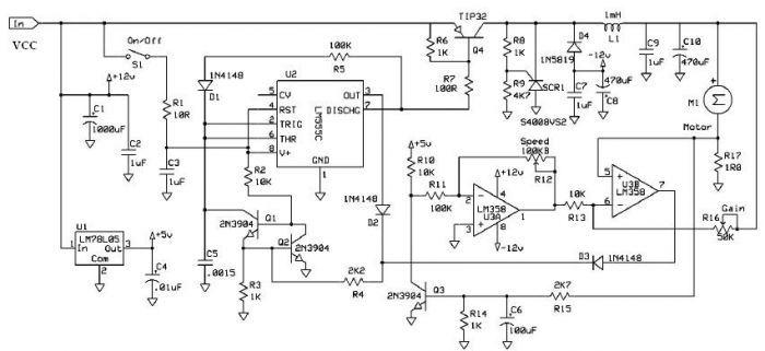 stepper motor controller 555 timer circuits