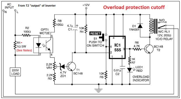 12v to 220v inverter circuit diagram pdf