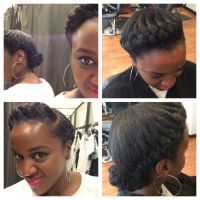 natural hair french braid marley hair
