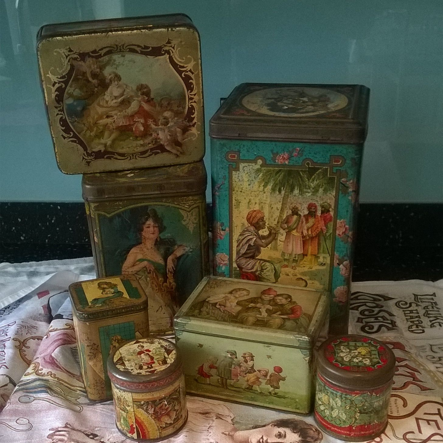 Tea Tins Collection Of Victorian Antique Tin Tea Caddies And