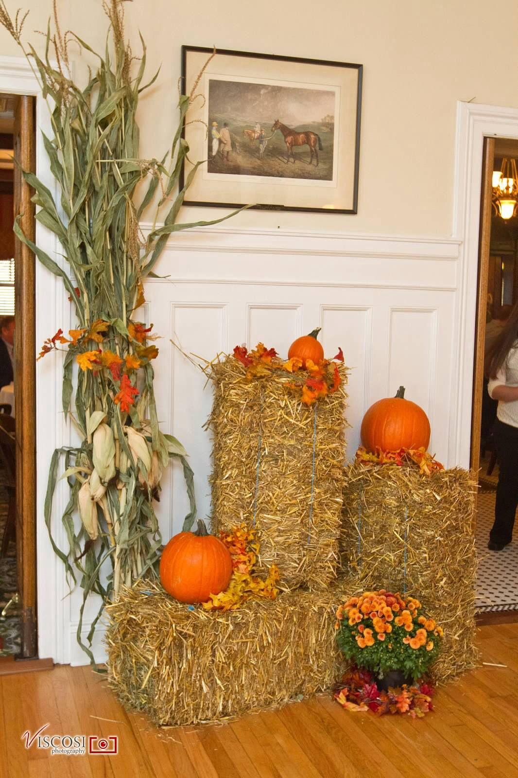 Hay Decoration Fall Decorations Hay Bales Corn Stalks Pumpkins And
