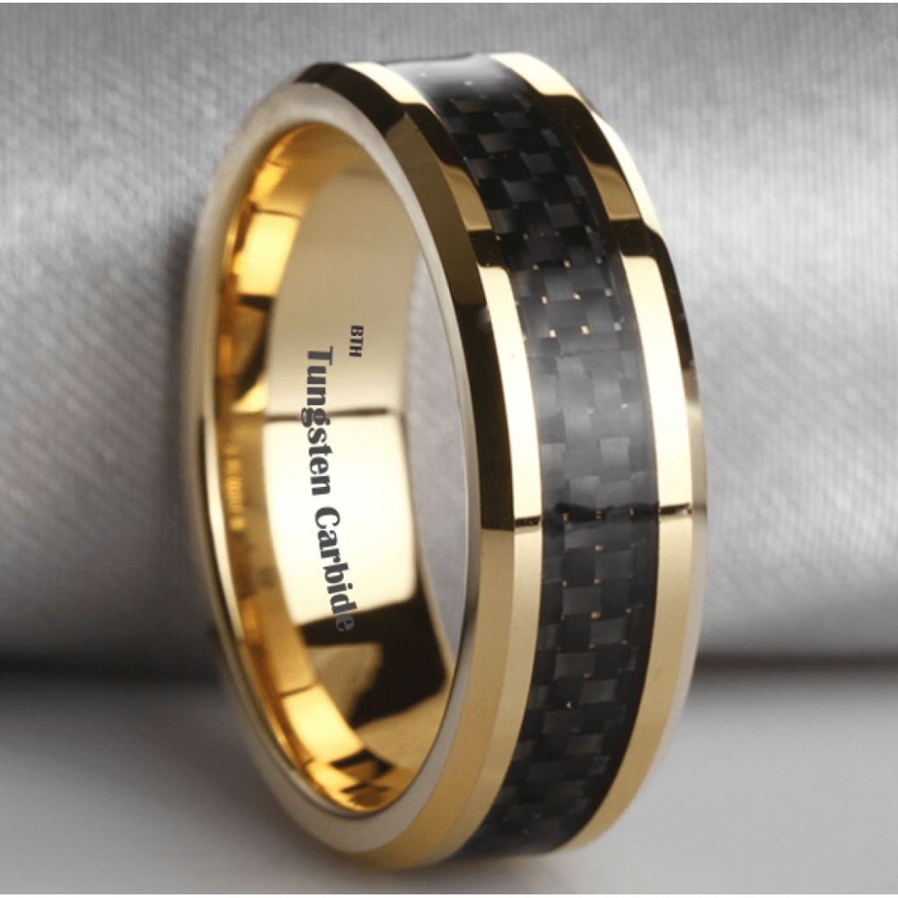 gold tungsten wedding bands black tungsten and gold mens wedding bands