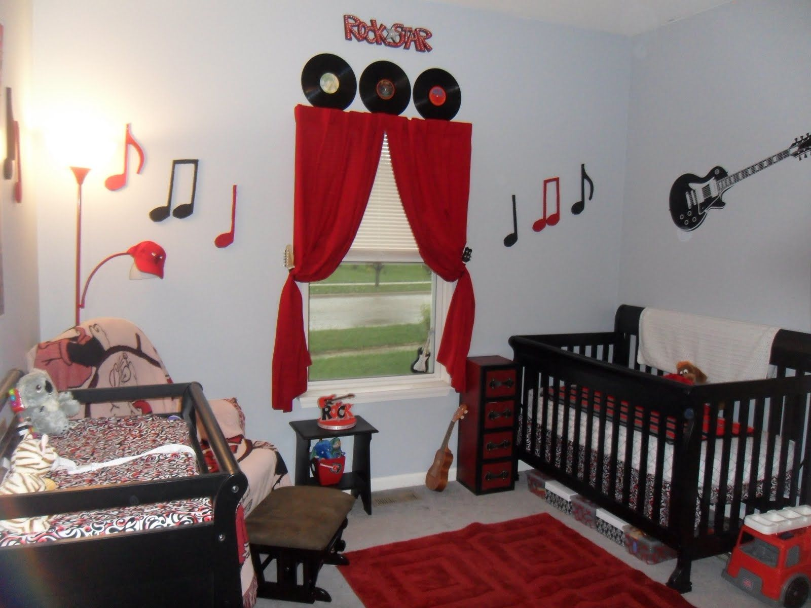Rock And Roll Themed Room Rock And Roll Baby Room But In Lime Green Teal And Black