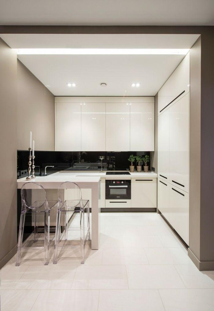 Kleine Küche Einrichten Beige Wände Kueche Pinterest Kleine   Moderne Kuche  Mit Dynamik Modularitat Und Eleganz