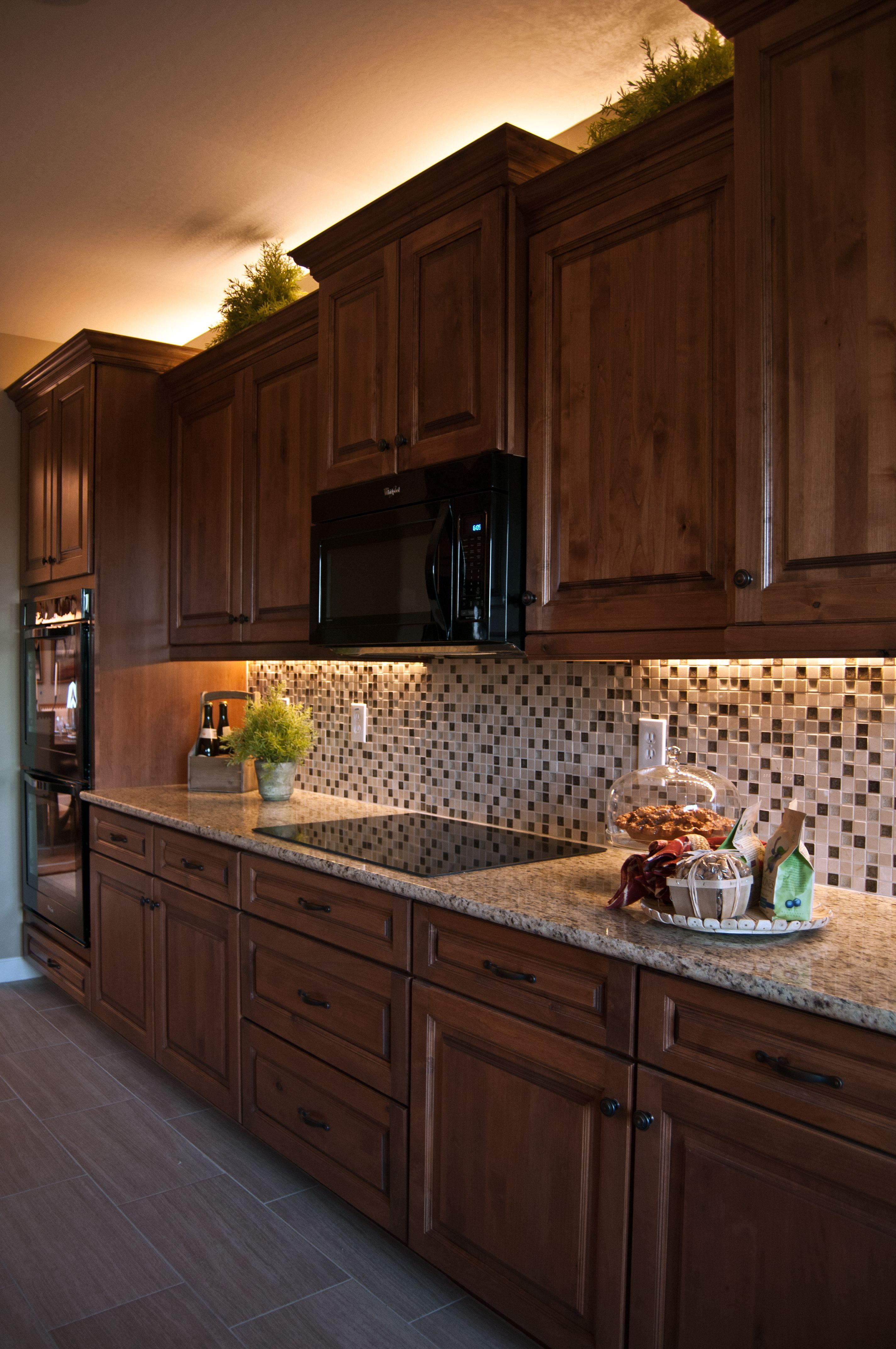 Crown Moulding Above Kitchen Cabinets Inspired Led Lighting In Traditional Style Kitchen Warm