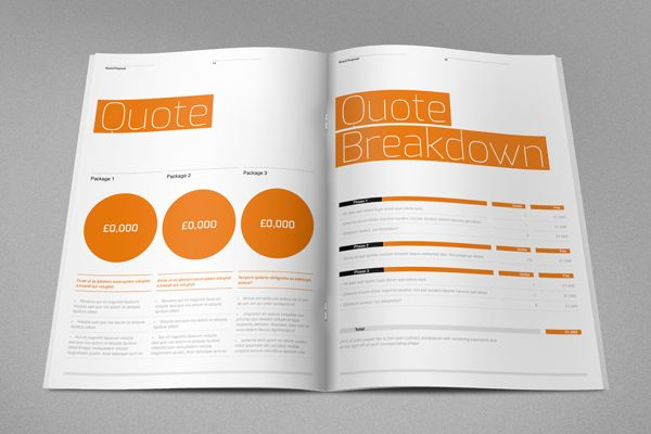 Agency Proposal Template by RW DS, via Behance Design - graphic design proposal template