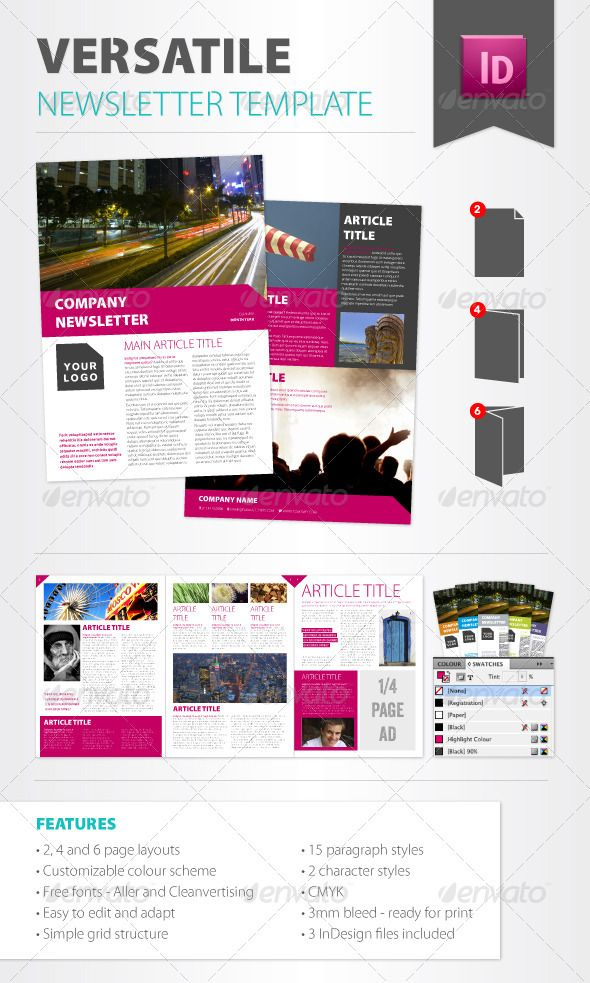 Versatile Newsletter Template Newsletter templates, Templates - company newsletter template free