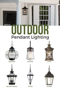 Outdoor pendant lighting, commonly called a hanging porch