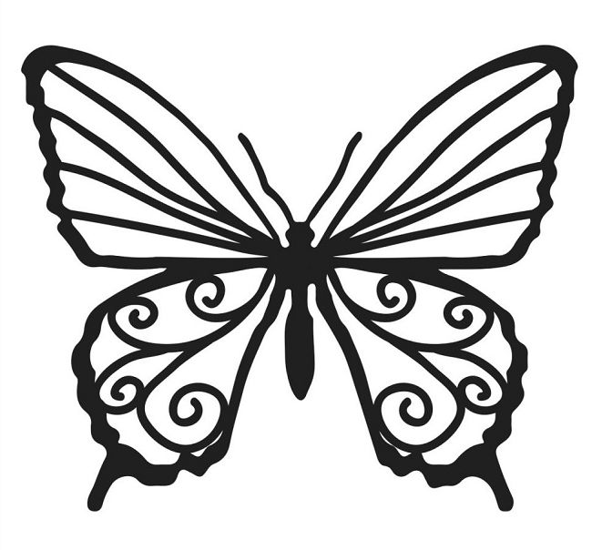 These Crafters Workshop templates are a fast and easy way to add a - butterfly template