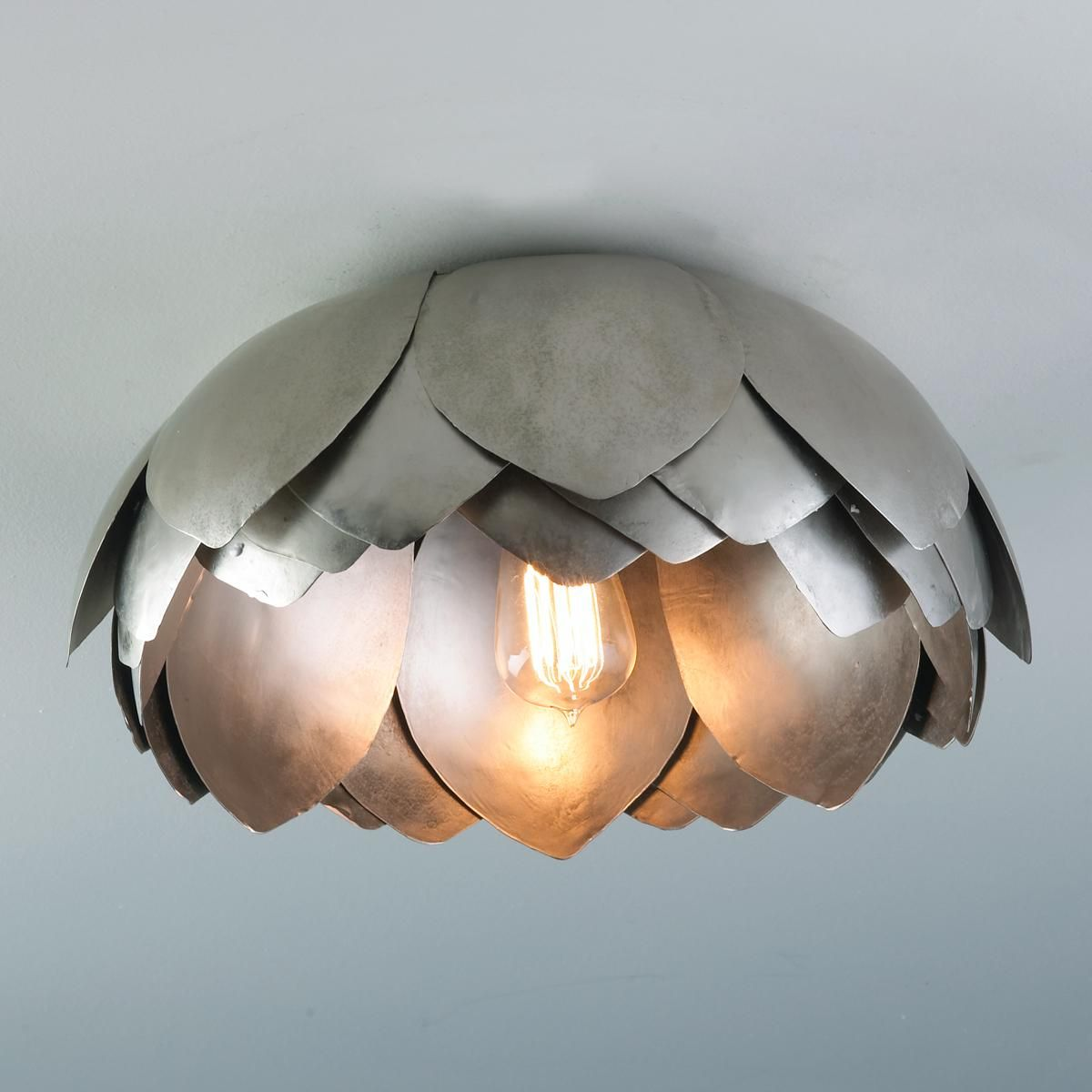 Cieling Lights Metal Lotus Flush Mount Ceiling Light For My Living Room