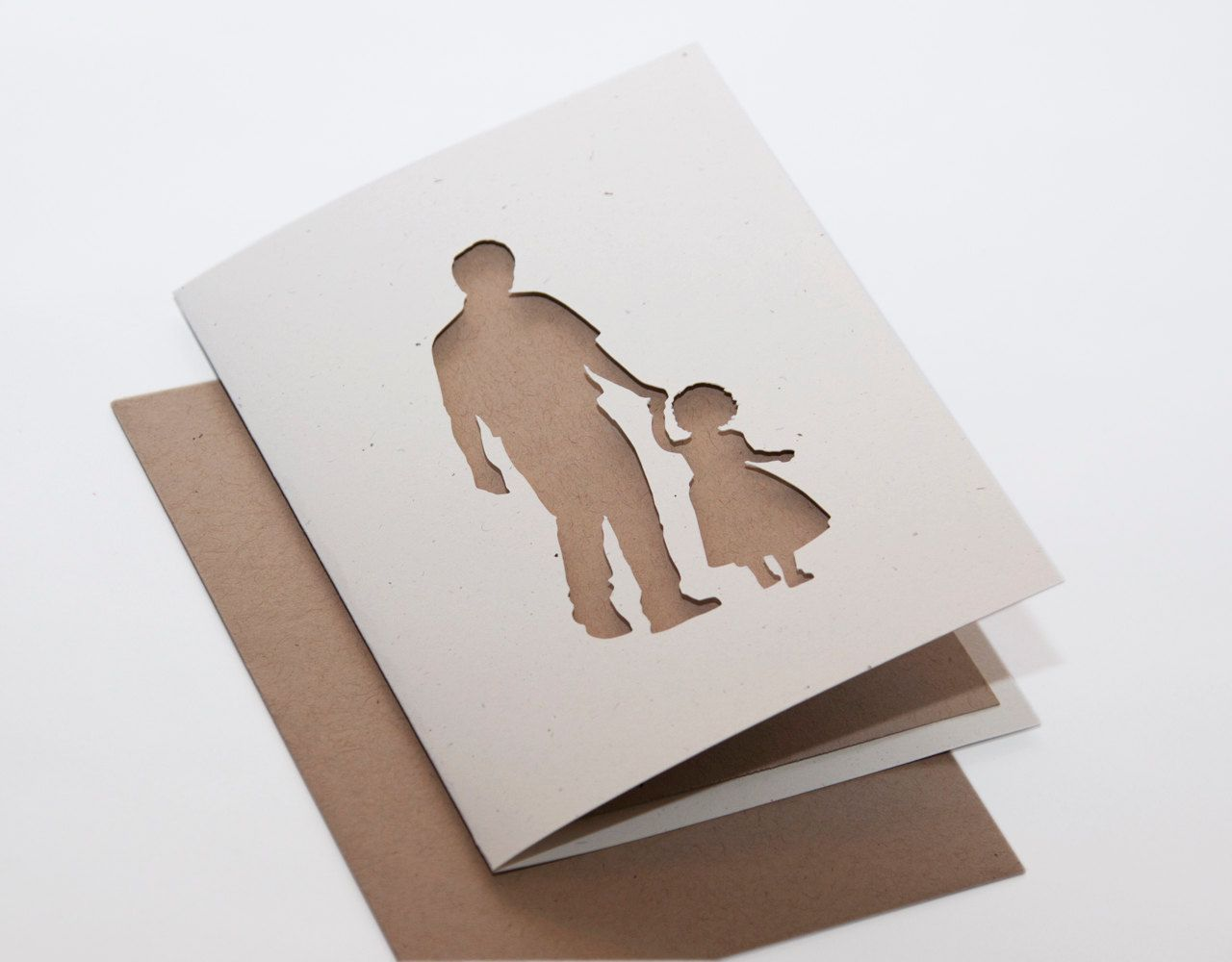 Easy Diy Birthday Gifts For Dad Fathers Day Card Father And Daughter Cut Silhouette Card