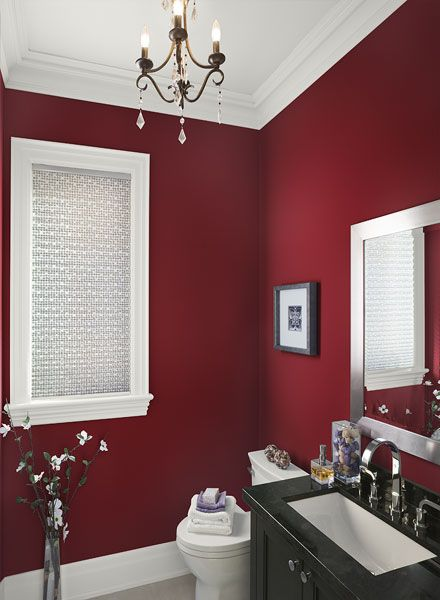 Bathroom Ideas \ Inspiration Ceiling trim, Benjamin moore and - red bathroom ideas