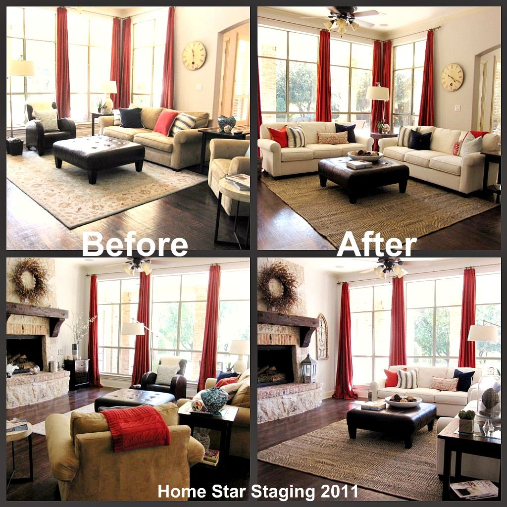 Home Stadging Family Room Staging Family Room Before And After Staging