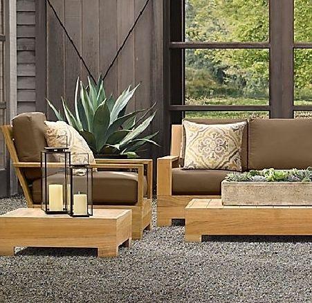 ... Leveb Grade A Teak Wood 4 Pc Outdoor Garden Patio Sofa Lounge   Outdoor  Lounge ...