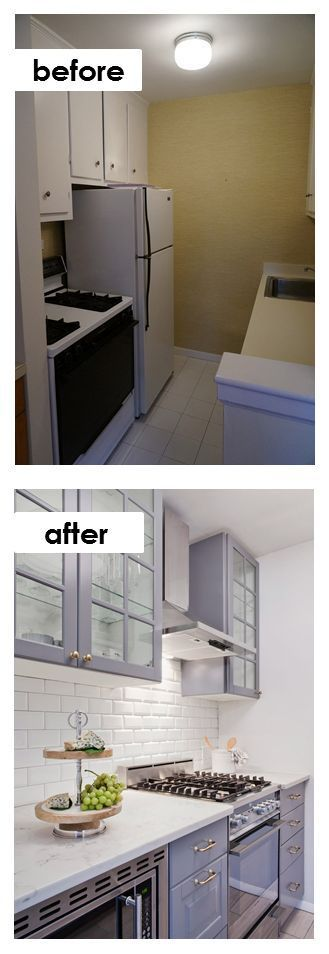 Small Kitchen DIY Ideas - Before \ After Remodel Pictures of Tiny - kitchen remodel ideas for small kitchen