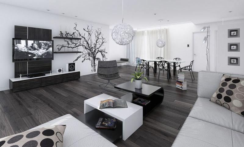 wohnzimmer schwarz weiß mit modernen esszimmerstühlen schwarz und - schwarz im esszimmer ideen einrichtung