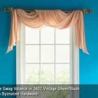 How to Hang a Rod for a Window Scarf | Scarf valance ...