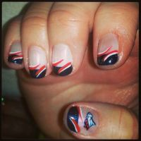 Denver Broncos nail art nail design   Fancy Nails ...