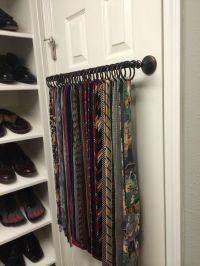 1000+ ideas about Scarf Rack on Pinterest   Scarf Storage ...