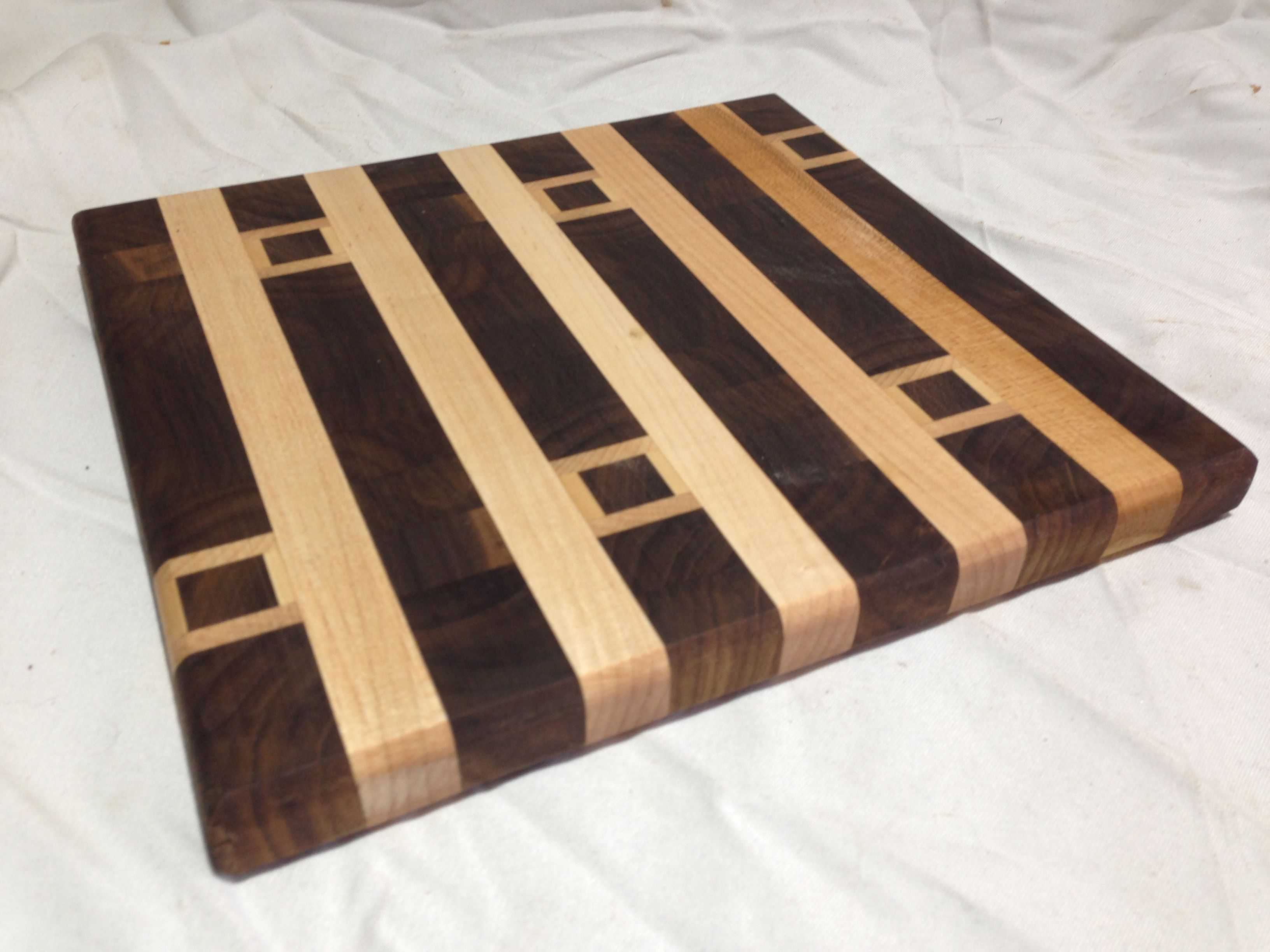 Cool Cutting Board Designs What A Unique Design For A Cutting Board Black Walnut And