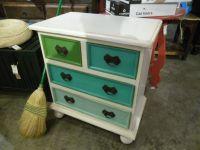 "Multi-Colored Painted Dresser CHD022A - $203 28.5""W x 17.5 ..."