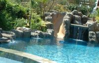 Pools with slides and waterfalls | home | Pinterest ...