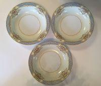 3 Noritake China Soup Bowls Chevonia Pattern 6003 Japan ...