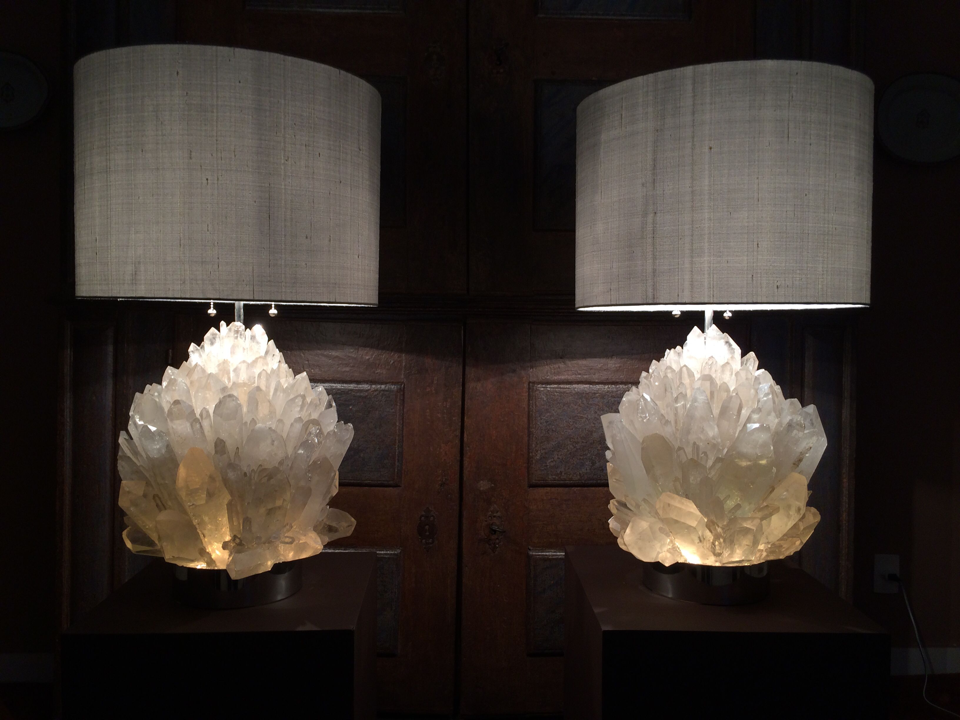 Crystal Stone Lamp Rock Crystal Lamp 34 Kg Each Design And Build By Demian