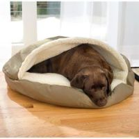 Awesome dog bed! My vizsla loves to hide in his cozy cave ...