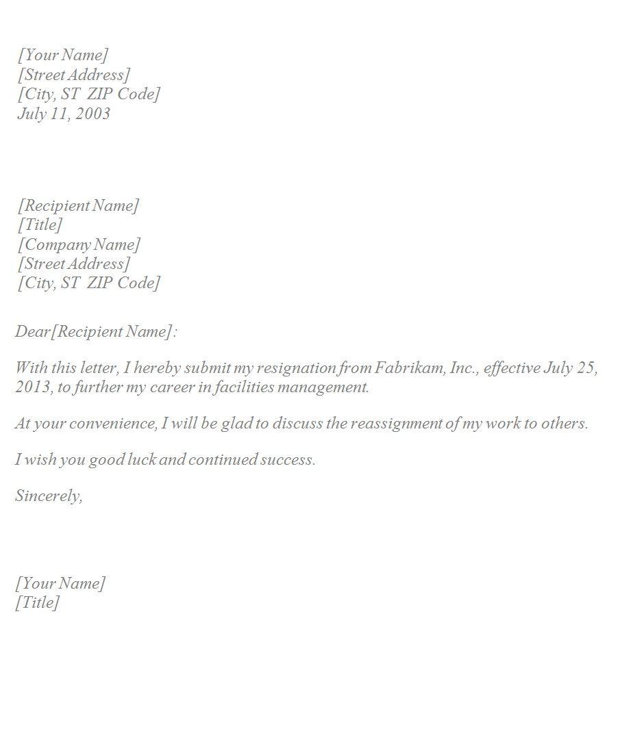 Unfair treatment at work sample letter - Sample Of Resignation Letter Due To Unfair Treatment