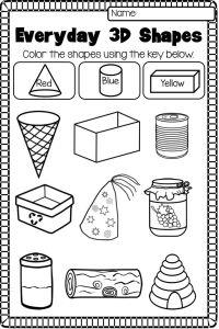 2D and 3D Shapes Worksheet Pack - NO PREP | 3d shapes ...