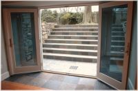 Westchester NY design build walk out French doors basement ...