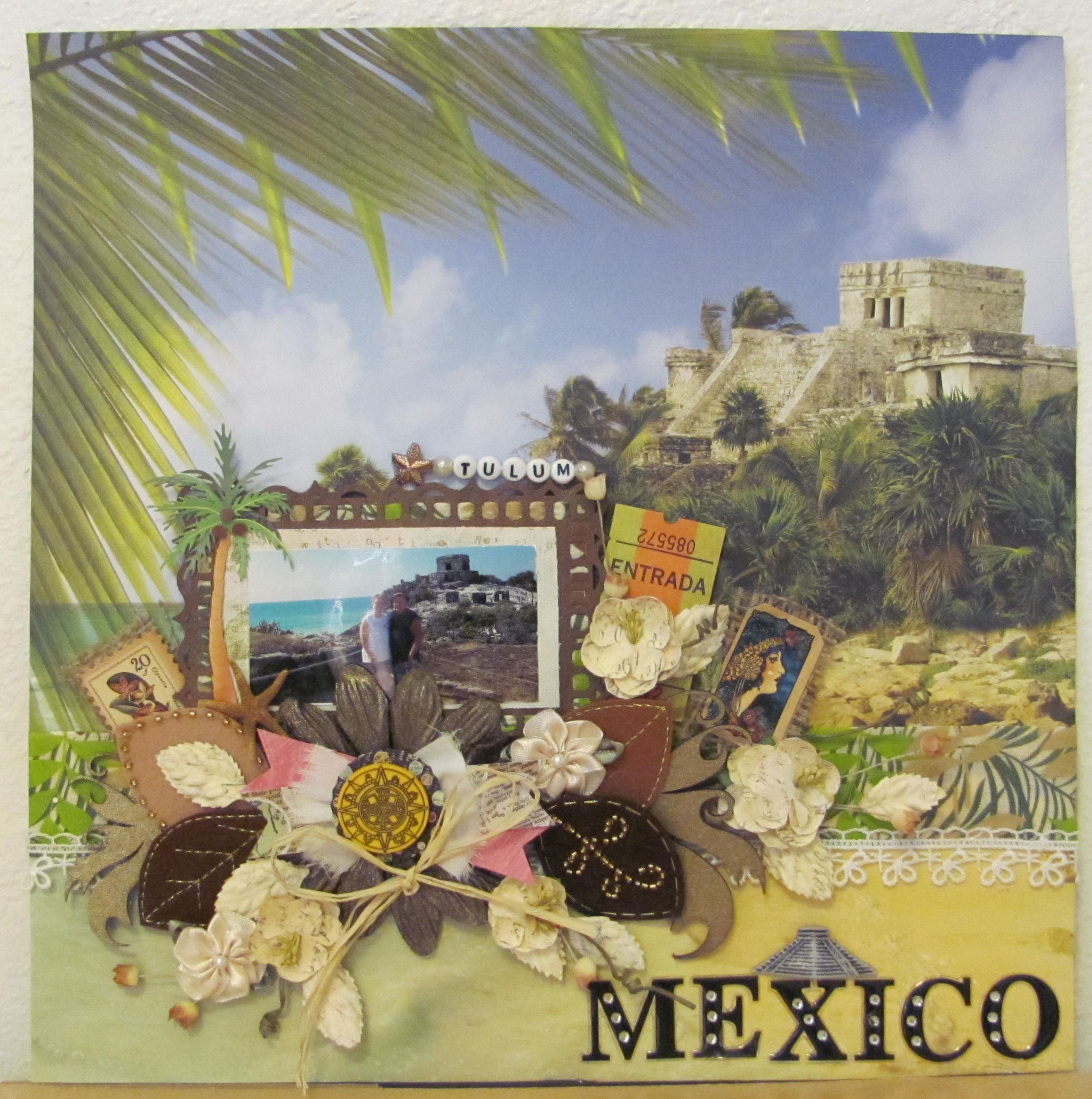 Layout tulum mexico scrapbook com