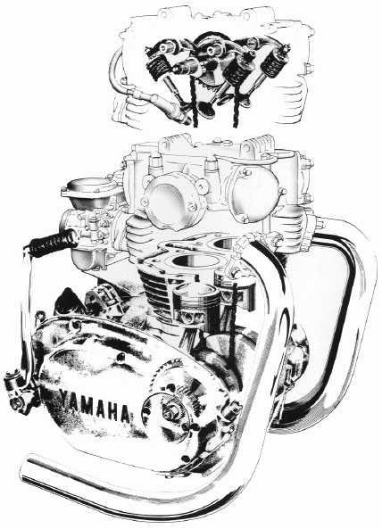 yamaha xs650 engine diagram