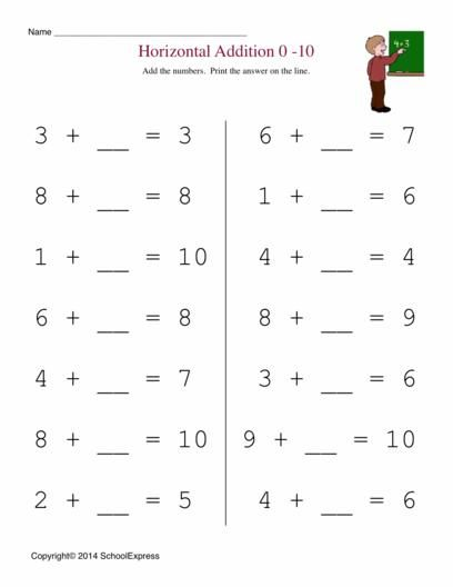Math Worksheets, Free Addition Worksheets, Story Problems - horizontal subtraction facts worksheet